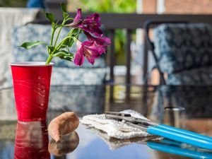 Solo Cup Still Life (After Betty Jo's Funeral)