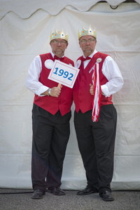 Twins Days 2015. Steve and Jeff Nagel (48). Were Kings of the festival in 1992.