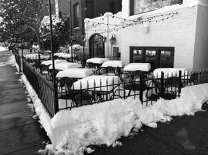 Cafe in Winter, Dupont Circle, Washington, D.C.