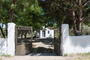 Campground in a churchyard near Lamia, Central Greece