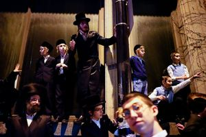 Thousands of people to celebrate the coming of a rabbi