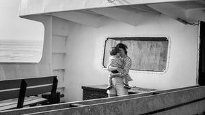 Mom and Child on Ferry
