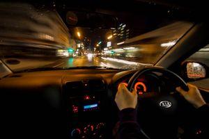 Driving through the night.