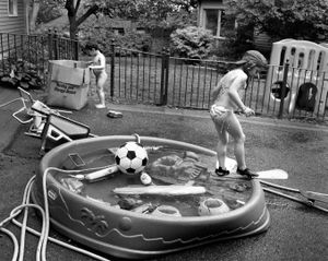 Pool and Soccer Ball, Brookline 2003