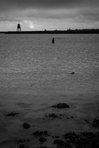 The man who walked into the sea.