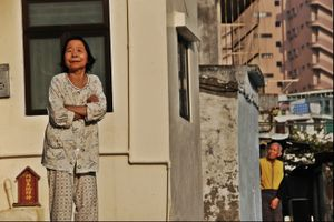 Elderly guardians of the last terraced houses remained