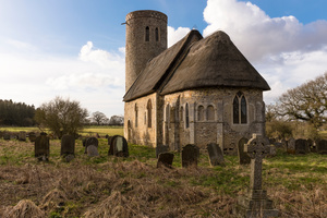 St. Margaret's, Hales, one of the churches most closely resembling its original Norman form in England