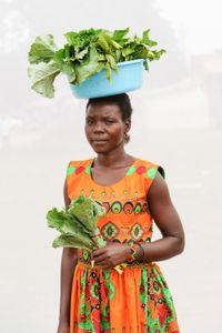 A. Irene: Sells Nakati & Schmawiki for 500 shillings a bundle. Earns about 3,000 shillings ($0.92) per day.