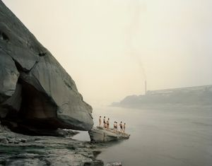 "Yibin I (Bathers, Sichuan Province. From the series ""Yangtze, The Long River"" © Nadav Kander. Courtesy Flowers Gallery."