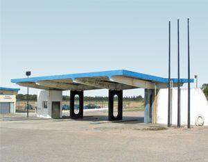 """Station #9, from """"Twentysix Abandoned Gasoline Stations"""" © Eric Tabuchi"""