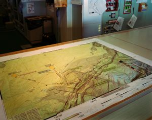Map of the Nankai Trough, Ship's Bridge, Chikyu