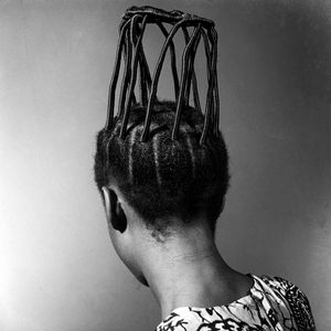 "From the ""Hairstyles"" project. © J. D. 'Okhai Ojeikere, 1972. Courtesy Estate of J. D. 'Okhai Ojeikere"