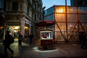 Chestnuts on Istiklal