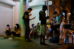 One of three public Wi-Fi zones introduced in Havana in July 2015