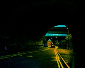 There was an underpass days later that helped me leave red and start to embrace the yellow and blue.