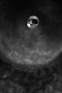 eye & a crash - drummer portrait