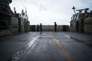 LCAC Deck, Chesapeake Bay VA, November 2013