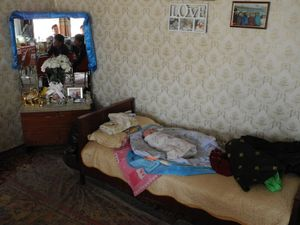 the napping grandson at his first family visit, Mongolia