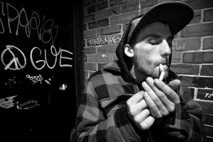 Smoking out, Portland Maine, 2017