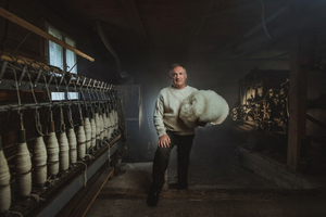 Traditional crafts. Portrait of the Wool Maker