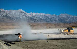 Gravel Mitigation Construction, Owens Lake, CA