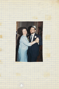 Maurice dancing with an aunt on a wedding years ago.