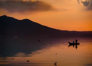 Rowboat on Lake Chapala