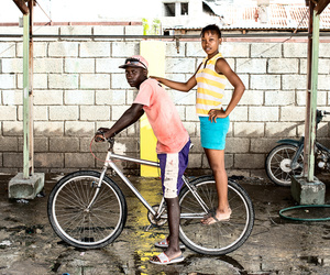 Pareja con su Bicicleta
