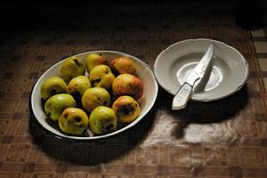 Still life with apples at a farm in Mirashkhani.