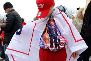Trump Flag at Inauguration 2