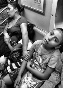Exhausted NYC - Families (B&W) 4