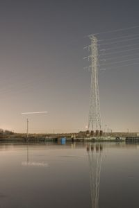 Electricity tower at Hackensack River