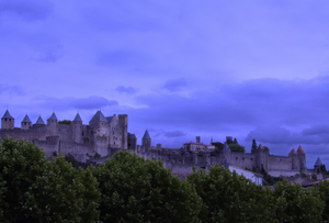 Carcassonne. View from the city