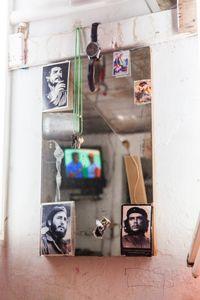 Tattoo artist's mirror, Cienfuegos © Mariette Allen