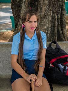 Teenage Girl in Secondary School, Pinar del Rio, Cuba