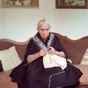Anna Katharina Suessmann, Schwalm, Hesse, 2010. From the series: The last women in their traditional peasant garbs