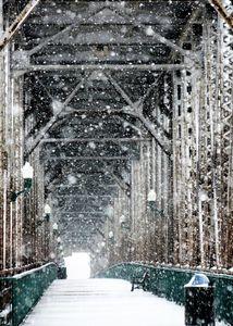 Meridian Bridge Snow Storm