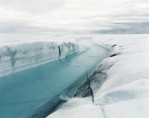© Olaf Otto Becker. River 1, 07/2007, Position 13, 69°4053N, 49°5406W, Altitude 715m from the series Above Zero (2009)