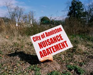 Sign. WEST ANNISTON, ALABAMA. 2012