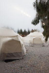 tents at refugee camp Pikpa, Lesbos