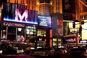 Las Vegas the colourful strip boulevard
