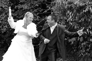 Le marié ne l'avait pas vu venir....