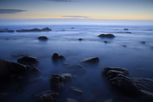 Extraterrestrial / At twilight, a long exposure on the Atlantic Ocean looks almost like an alien seascape ...