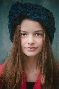 Girl in Blue Hat