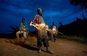 "Child Soldiers. From the series ""Kids"" © Zoran Marinovic"