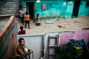 Daily life in a slum in the surroundings of the Arena Itaquera