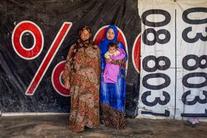 Nawar and Tharaa are widow come from al-Raqqa.
