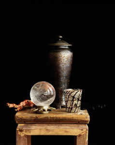 Still Life with a Coral Branch and a Crystal  Globe, Studio, NYC