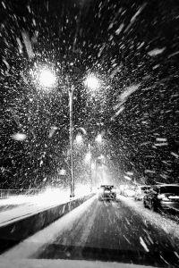 Snowfall in Riga