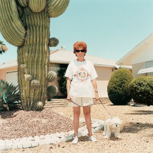 Woman with a poodle, from the series Sun City © Peter Granser